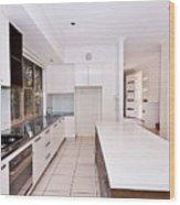 Galley Kitchen Wood Print