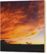 Gallo Peak Fiery Skies  Wood Print