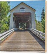 Gallon House Covered Bridge Wood Print