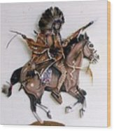 Galloping Along Wood Print