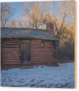 Galloway Homestead Cabin Wood Print