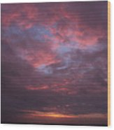 Galveston Texas Sunset Wood Print