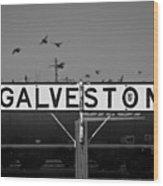 Galveston Train Yard Wood Print