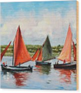 Galway Hookers Wood Print by Conor McGuire