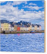 Galway On The Water Wood Print