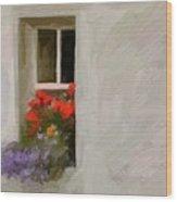 Galway Window Wood Print