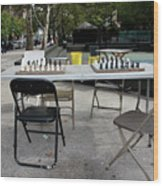 Game Of Chess Anyone Wood Print by Terry Wallace