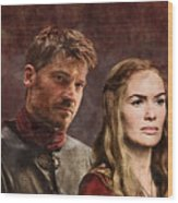 Game Of Thrones. Cersei And Jaime. Wood Print