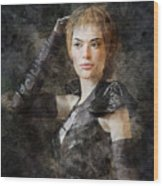 Game Of Thrones. Cersei Lannister. Wood Print