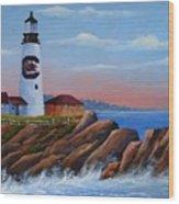 Gamecock Lighthouse Wood Print