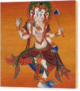 Ganapati   7 Wood Print