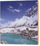 Gandharva Tal And Mount Shivaling Wood Print