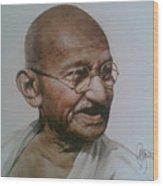 Gandhiji Wood Print