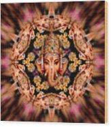 Ganesh Sphere Mandala Wood Print