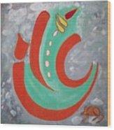 Ganesha Symbolic Wood Print