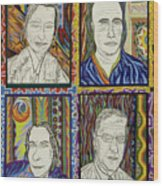 Gang Of Four Wood Print