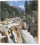 Ganges In Gangotri Close To Its Source Wood Print