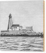 Gannet Rock Lighthouse Wood Print