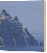 Gannets Fly Around Little Skellig, County Kerry, Ireland Wood Print