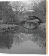 Gapstow Bridge - Central Park - New York City Wood Print by Holden Richards