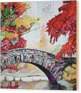 Gapstow Bridge I Wood Print