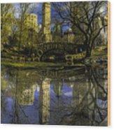 Gapstow Bridge In Central Park Wood Print
