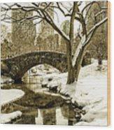Gapstow Bridge Wood Print