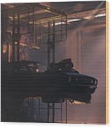 Garage Wood Print