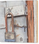 Garage Lock Number One Wood Print