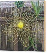 Yellow Sunflower Garden Art Wood Print