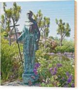 Garden At Carmel Mission-california Wood Print