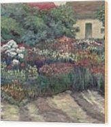 Garden At Giverny Wood Print