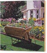 Garden At Patio Lane Wood Print