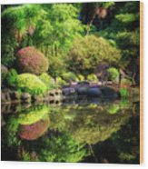 Garden At Shores Acres Wood Print