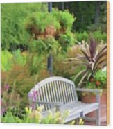 Garden Benches 5 Wood Print