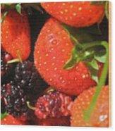 Garden Berries Wood Print