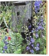 Garden Birdhouse Wood Print