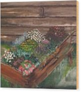 Garden Box Wood Print
