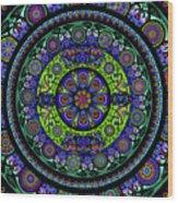 Garden Buddha Mandala Wood Print