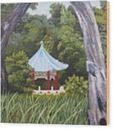 Garden By The Bay Wood Print