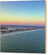 Garden City Ocean Sunset Wood Print