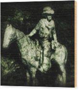 Garden Cowboy Wood Print