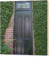 Garden Door Wood Print