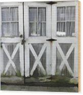 Garden Doors Wood Print