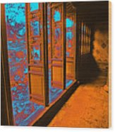 Garden Doorway Wood Print