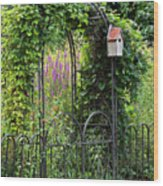 Garden Entrance Wood Print