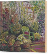 Garden Escape Wood Print