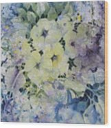 Garden-flowers Wood Print
