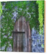 Garden Gate At The Highlands Wood Print