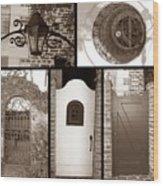 Garden Gates Wood Print